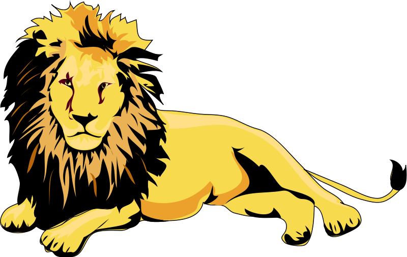 Big Cat clipart animated animal Animations Lion and Lounging Lion