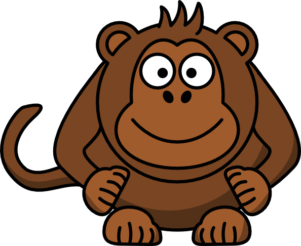 Moving clipart monkey #12