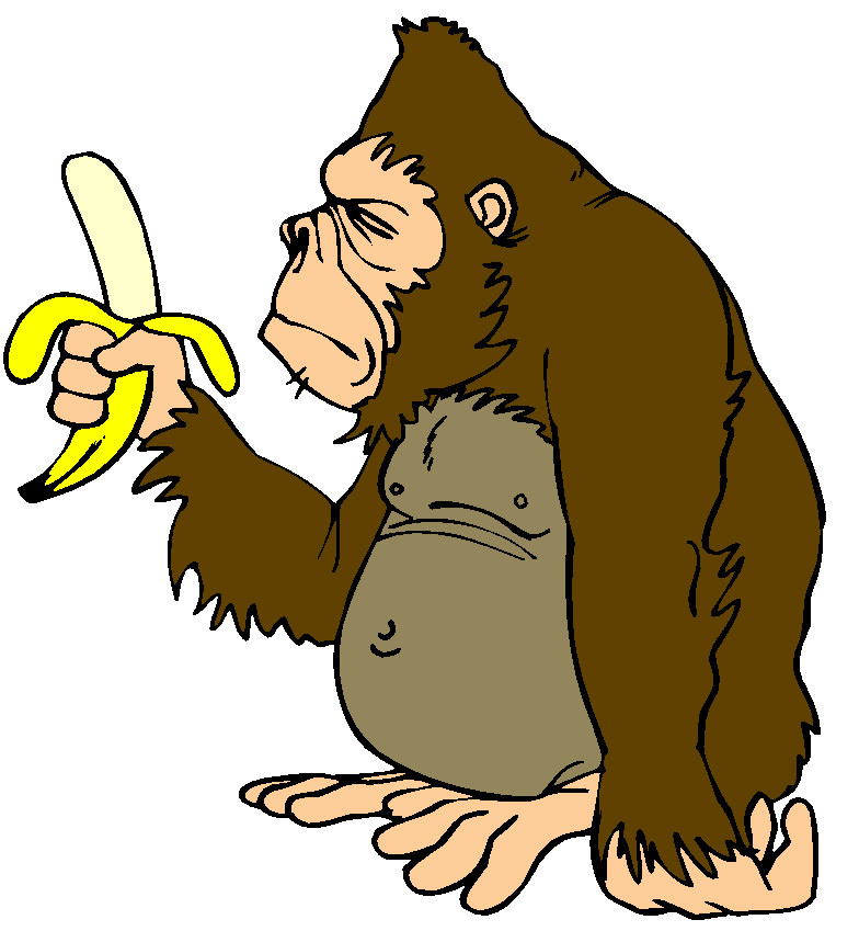 Moving clipart monkey #15