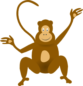 Moving clipart monkey #4