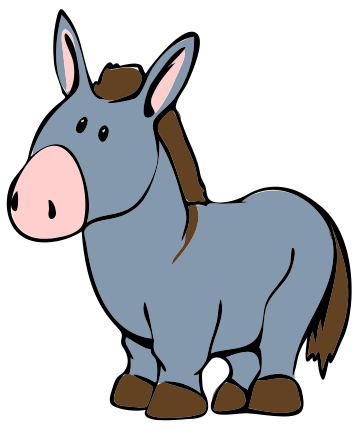 Moving clipart mule #5