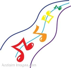 Moving clipart music notes #7