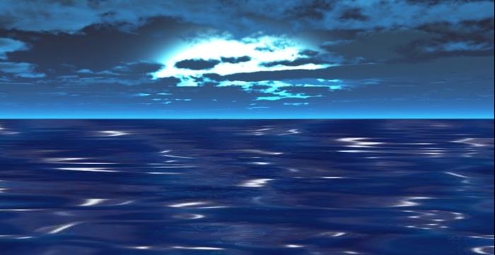 Moving clipart ocean Ocean Ocean Moon Cloudy Second