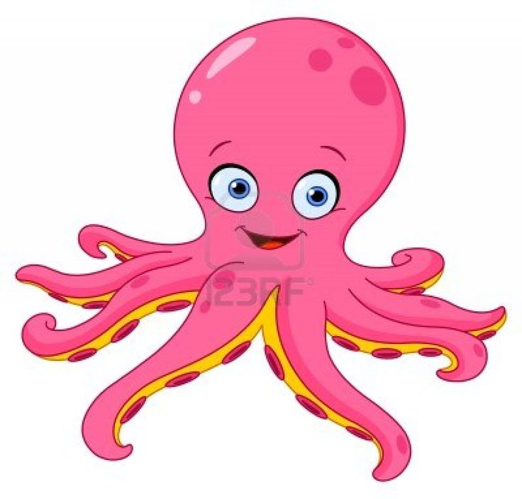 Moving clipart octopus #15