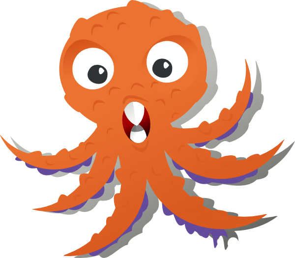 Moving clipart octopus #4