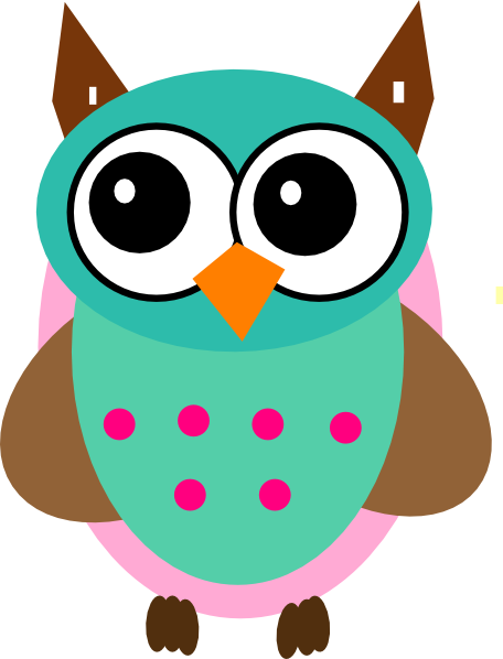 Moving clipart owl  Owls Colorful Animated Clipart