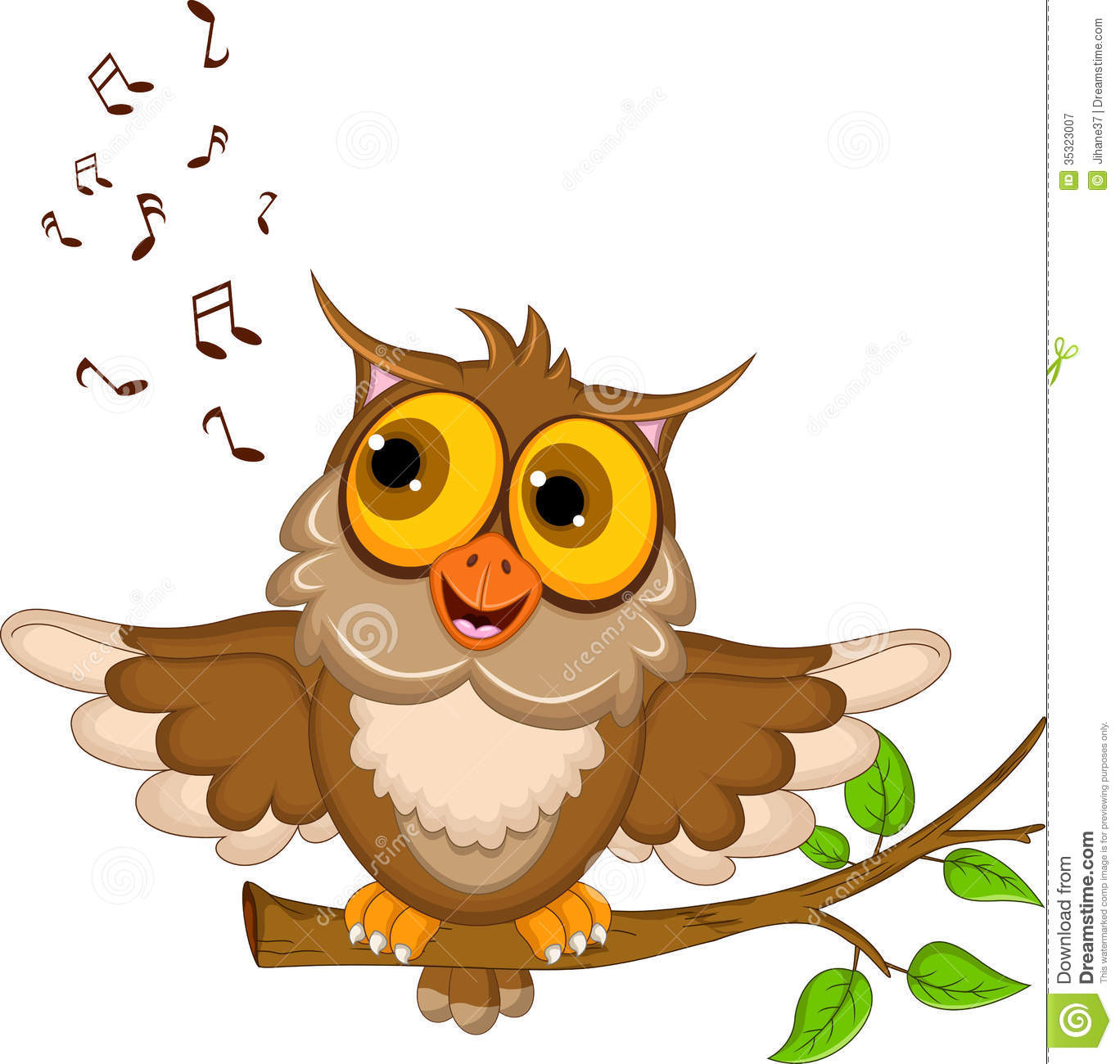 Moving clipart owl Owl Singing Clipart Owl Singing