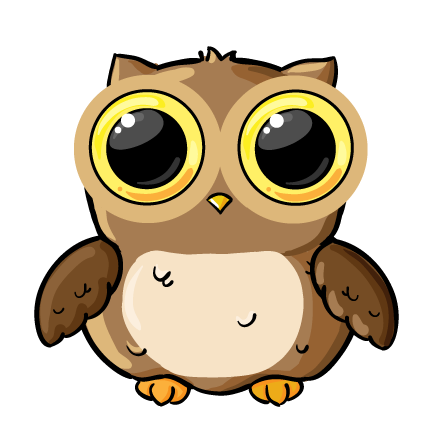 Moving clipart owl Colorful clipart Animated Owls Collection