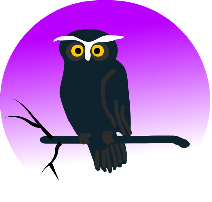 Moving clipart owl Vector & Clipart Branch of