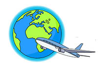 Travel clipart animated Clipart Plane 192 Size: Flying