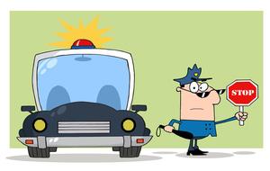 Traffic clipart traffic car Clipart Directing Cop Car His