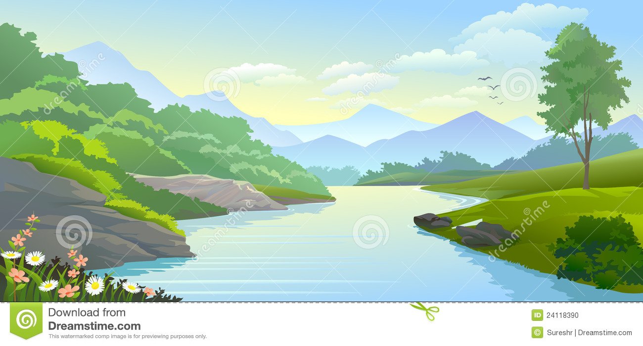 Moving clipart river Clipart cliparts Flowing Flowing River