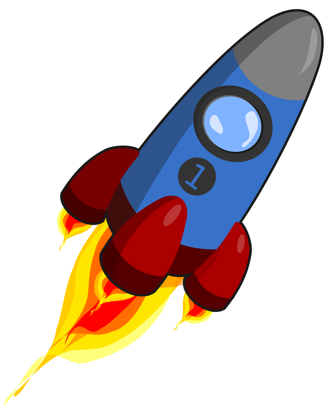 Moving clipart rocket #14