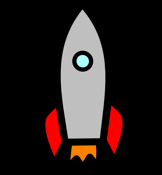 Rocket clipart animated Online com art Clker this
