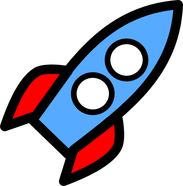 Moving clipart rocket #4