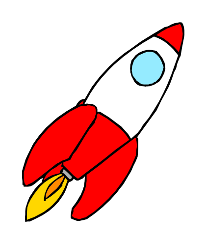 Moving clipart rocket #12