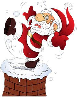 Moving clipart santa claus Christmas House Animated Christmas Clipart