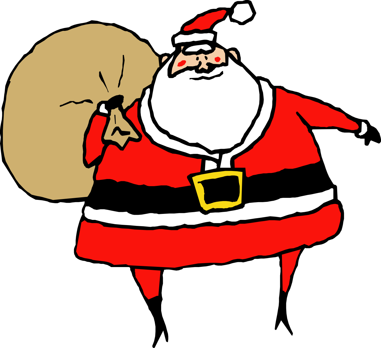 Moving clipart santa claus  Free Animated Clip Art