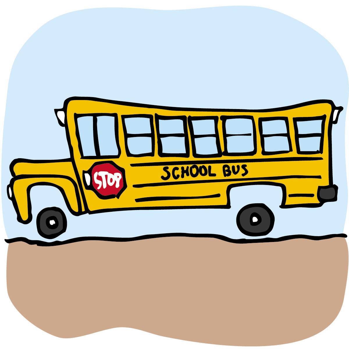 Apple clipart school bus A art Free school Clip