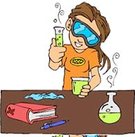 Moving clipart scientist #15
