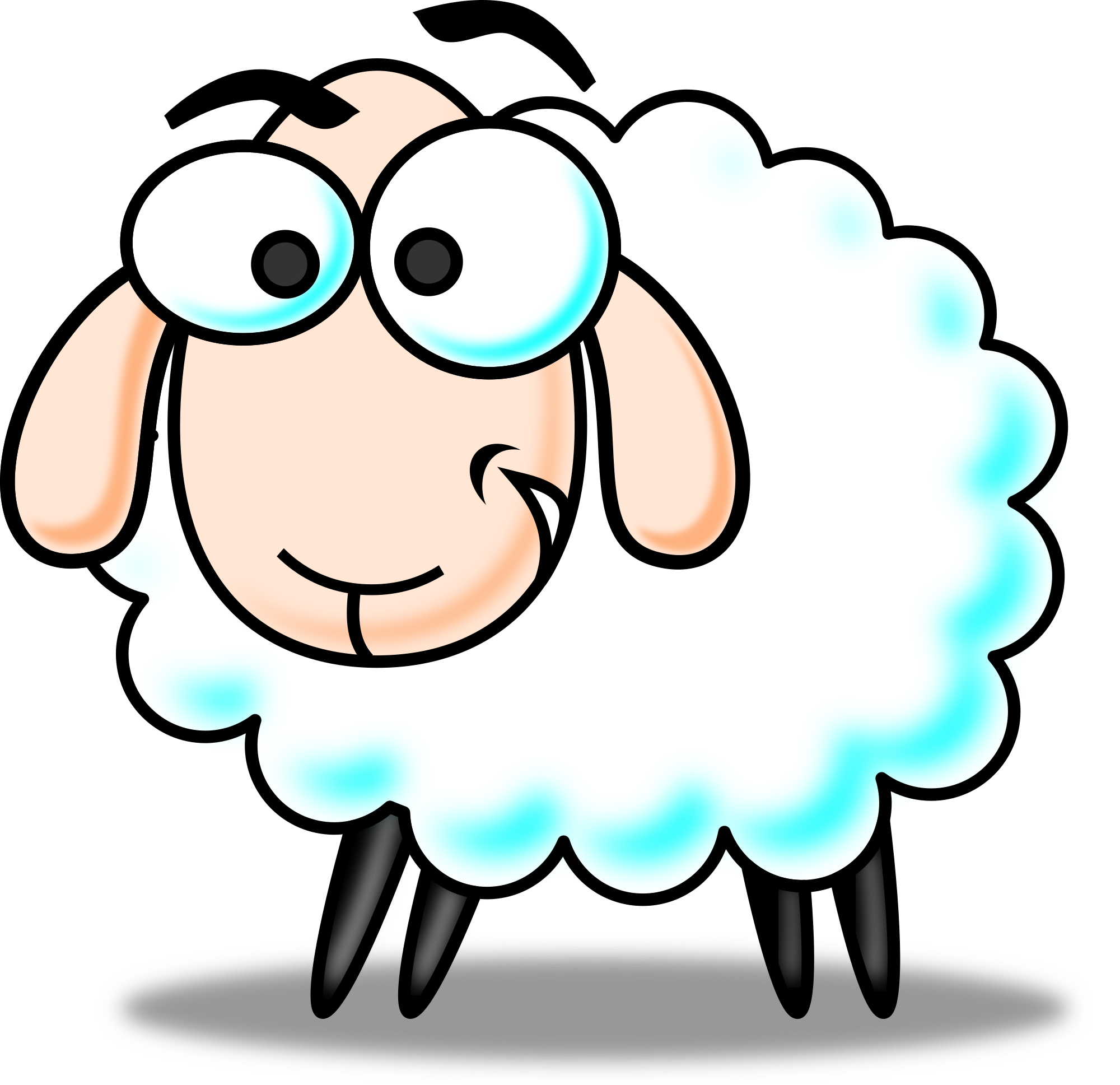 Moving clipart sheep Free clip art Animated cartoon