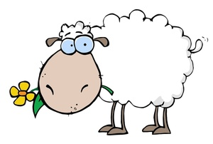 Sheep clipart cartoon #2