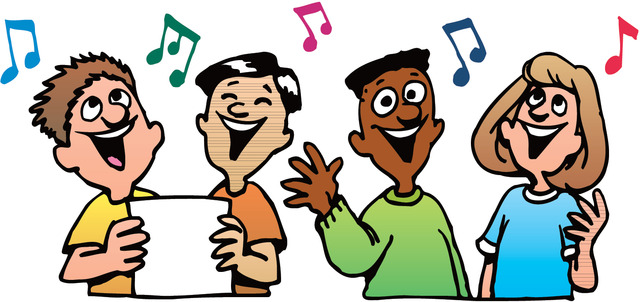 Moving clipart singing Art clip sing Hymn Music