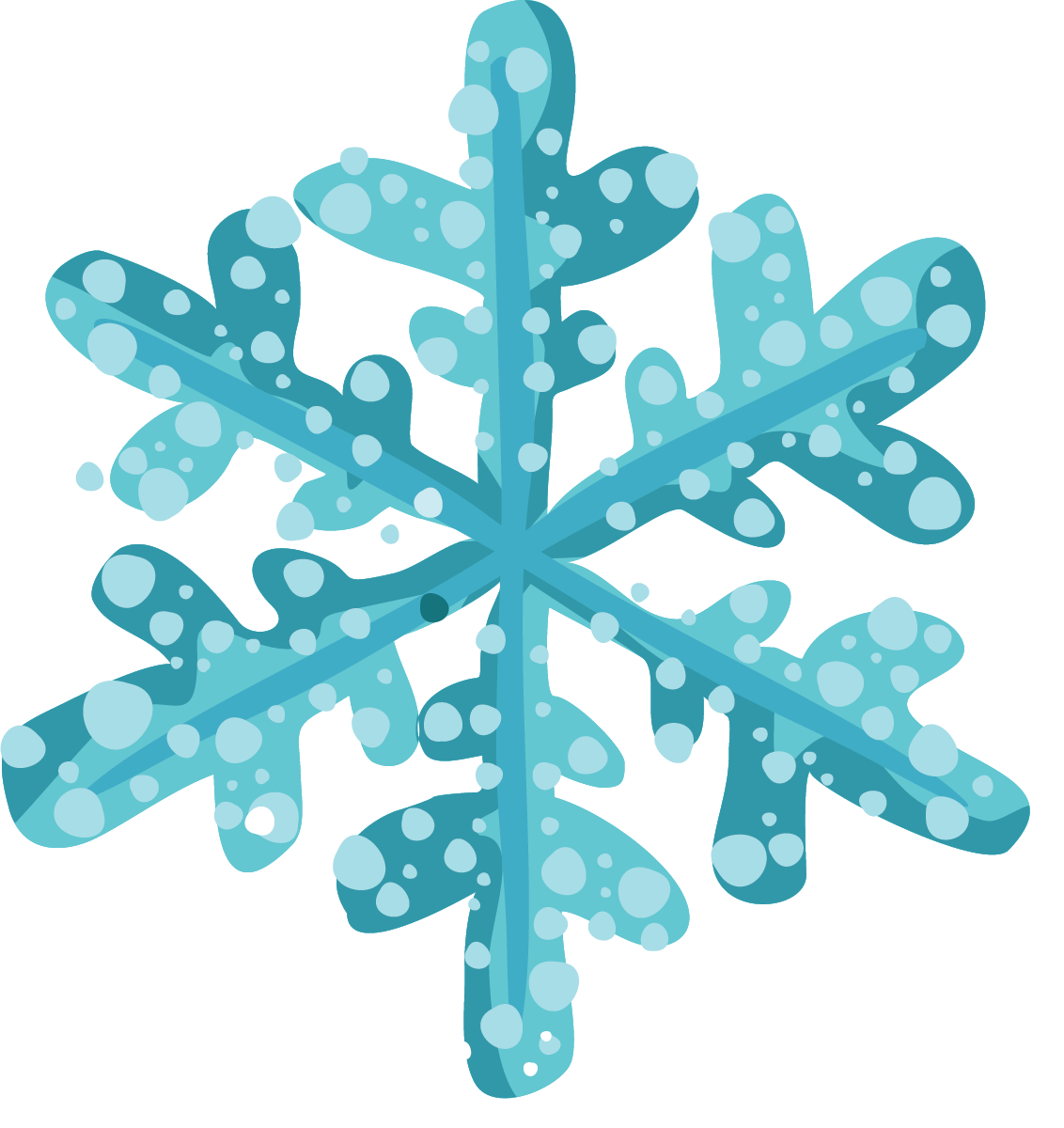Moving clipart snowflake #7