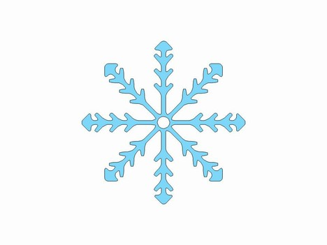 Templates  clipart snowflake #6