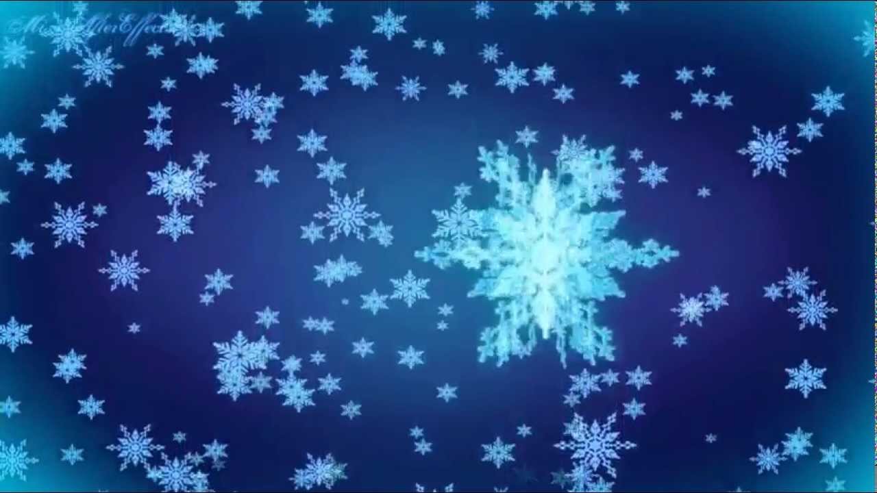 Moving clipart snowflake Falling Snowflakes Free Motion Background