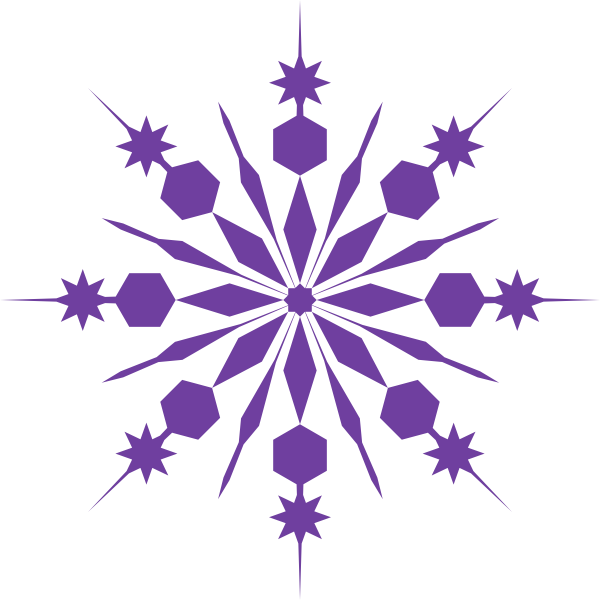 Moving clipart snowflake #6