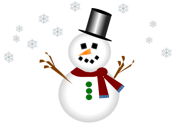 Moving clipart snowman #1