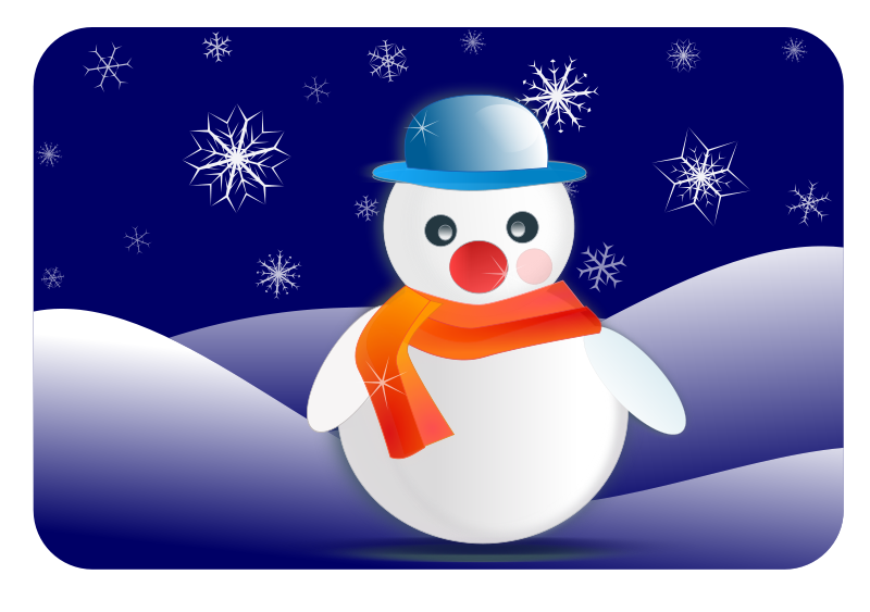 Moving clipart snowman #7