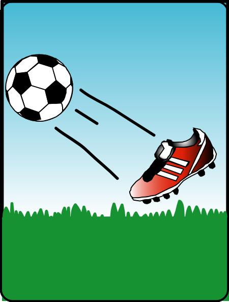 Football clipart football boot #5
