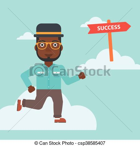 Moving clipart success Illustration to  csp38585407 Businessman