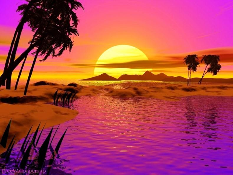Moving clipart sunset Windows for desktop Beach for