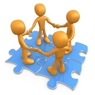 Puzzle clipart employee teamwork Moving teamwork animated clipart animation
