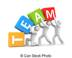 Figurine clipart teamwork Stock  Illustrations Isolated and