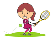 Moving clipart tennis Art Pictures Clip Hitting clipart