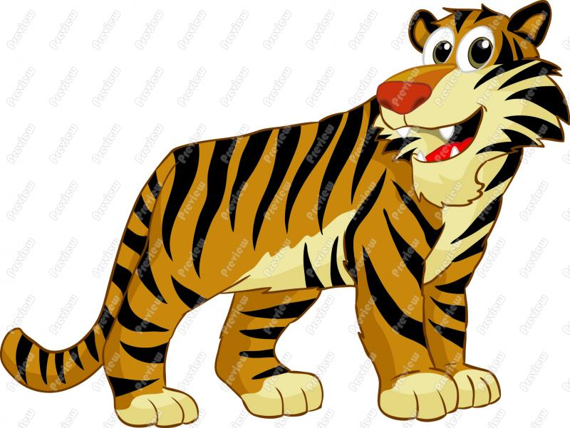 Moving clipart tiger #6
