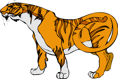 Moving clipart tiger #5
