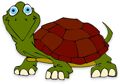 Moving clipart turtle Free happy turtle Clipart big