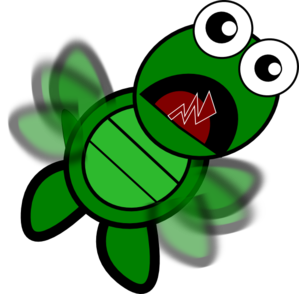 Moving clipart turtle Art online Flapping  vector
