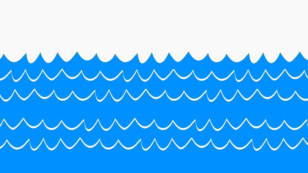 Moving clipart wave YouTube Sea Waves Animated