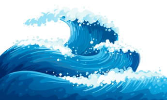 Moving clipart wave #1986 Vector Waves Cartoon Wave