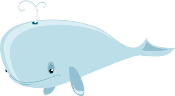 Moving clipart whale #2