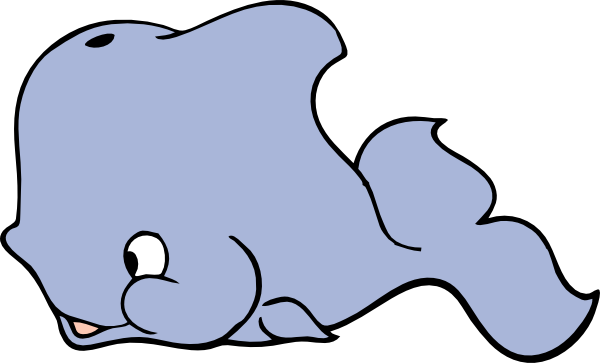 Moving clipart whale #7