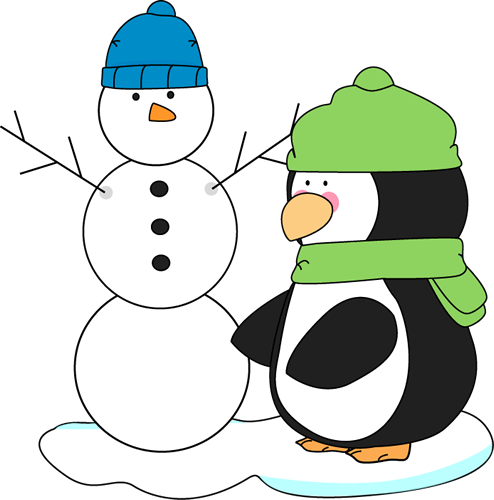 Penguin clipart winter break Cliparts clip winter Clipart Winter