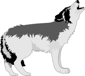 Wolf clipart vector Arts clip Wolf Howling Wolf