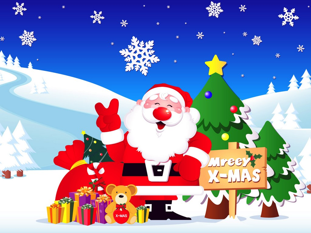 Merry Christmas clipart animated  Free Clip Holiday Cliparts